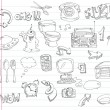 Doodle set 2 - Imagens vectoriais em stock