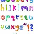 Colorful small letters hand written — Stock Vector #3643441