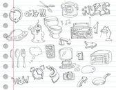 Doodle sada 2 — Stock vektor