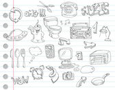 落書きセット 2 — ストックベクタ