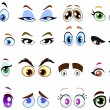 Cartoon eyes — Imagen vectorial