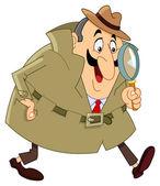 Dedektif — Stok Vektör