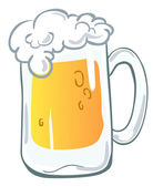 Beer mug — Vector de stock
