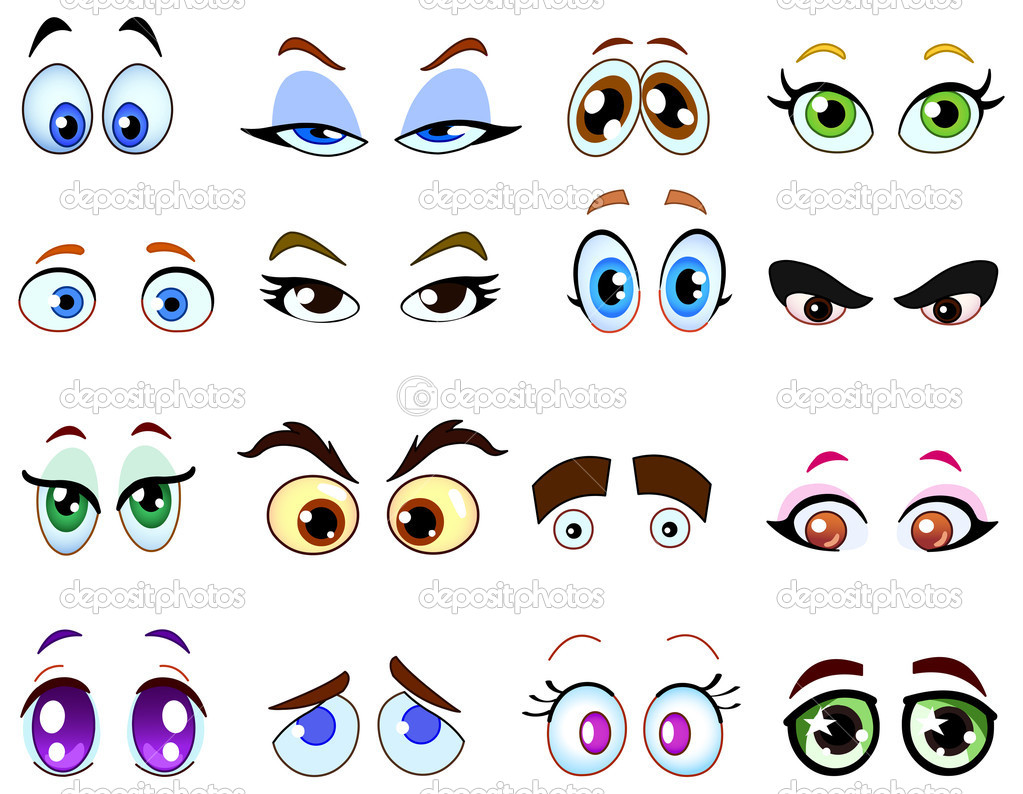 Cartoon eye set — Stock Vector #3718179