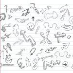 Arrow doodles — Stock Vector