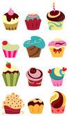 Cupcakes — Vetor de Stock