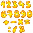 golden numbers — Stock Vector