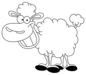 Outlined sheep — Stock Vector