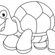 Stock Vector: Outlined turtle