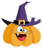 Pumpkin witch — Stock Vector