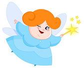 Lovely fairy — Stock Vector