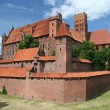 Malbork castle, Poland - Stock Photo