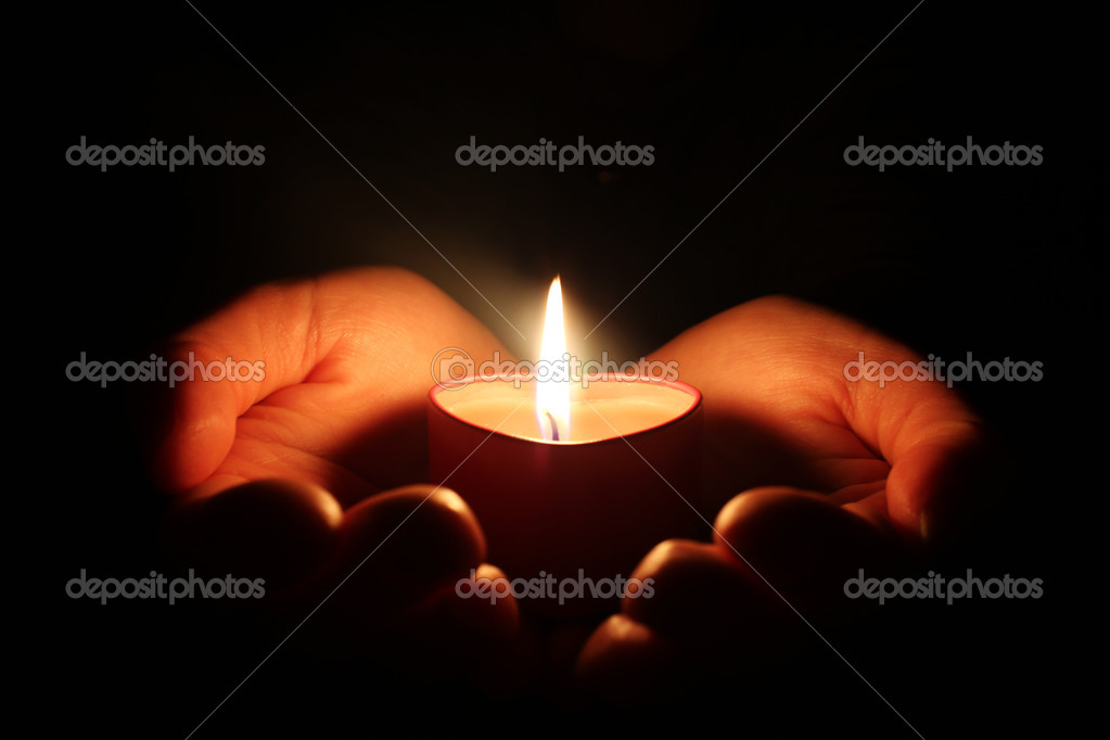 Candle in the hand — Foto de Stock   #3762301