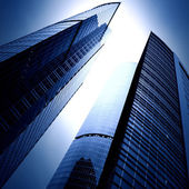 Modern glass business skyscrapers — Stock Photo