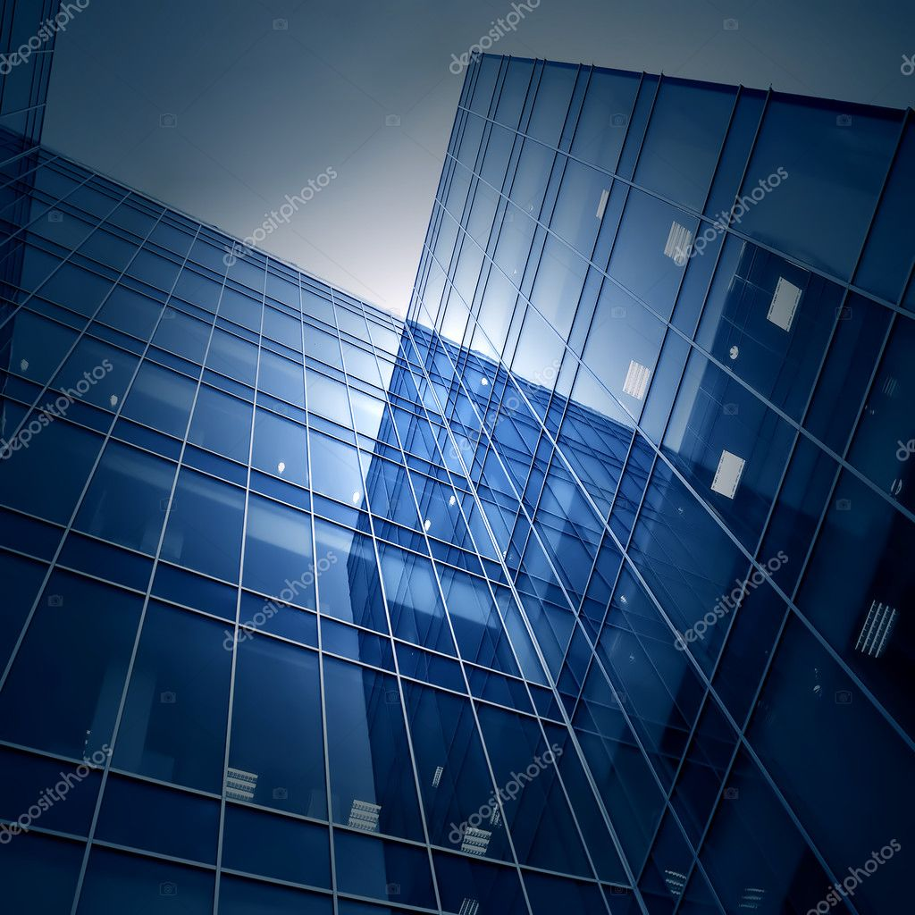 Perspective glass wall of skyscraper — Stock Photo #3000822