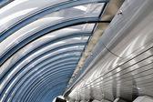 Futuristic ceiling in airport — Stock Photo