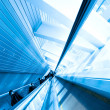Escalator in business center - Stock Photo