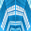 Symmetric ceiling inside shopping mall — Stock Photo