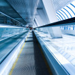 Royalty-Free Stock Photo: Perspective view of business escalator indoor ai