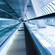 Perspective view of business escalator indoor ai - Stock Photo