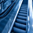 Stock Photo: Diminishing stairway of blue empty business esca