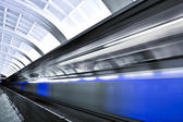 Fast moving train by motion — Foto de Stock