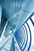 Blue hallway, metro station indoor — Fotografia Stock