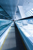 Perspective view of business escalator indoor ai — Stock Photo