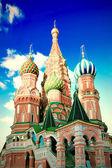 Catedral de st manjericões na praça vermelha de moscou — Foto Stock