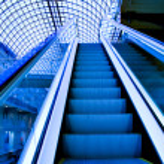 Empty escalator — Stock Photo #3080427