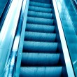 Diminishing stairway of blue — Stock Photo