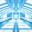 Futuristic corridor in airport — Stockfoto