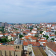 View over the red european roofs — Foto de Stock