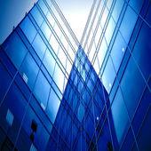 Glass silhouettes of skyscrapers — Zdjęcie stockowe