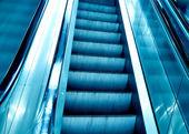 Diminishing stairway of blue — Stock Photo