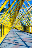 Abstract yellow Tunnel in office — Stock Photo