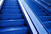 Moving escalator with stairs — Stock Photo