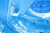 Round staircase in office centre — Stock Photo