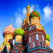 St Basils cathedral on Red Square in Moscow — Stock Photo