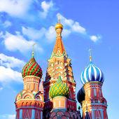 St basils katedrála na rudém náměstí v moskvě — Stock fotografie
