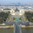 Trocadero from the top, Paris — Stock Photo