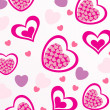 Vector romantic pattern background — ストック写真