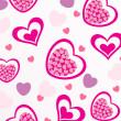 Vector romantic pattern background — Stock Photo