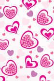 Vector romantic pattern background — Stock Photo