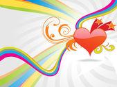 Heart and stars design wallpaper — Stock Photo
