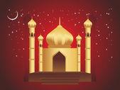 Golden mosques — Stock Vector