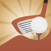 Golf ground, vector illustration — Stock Vector