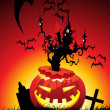 Illustration of halloween background — Vector de stock