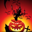 Illustration of halloween background — Imagens vectoriais em stock