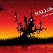 Background with halloween pattern — Stock vektor